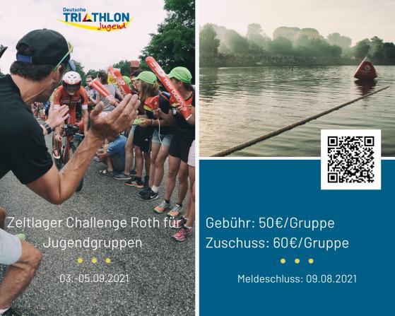 Zeltlager für Jugendgruppen der Deutschen Triathlonjugend